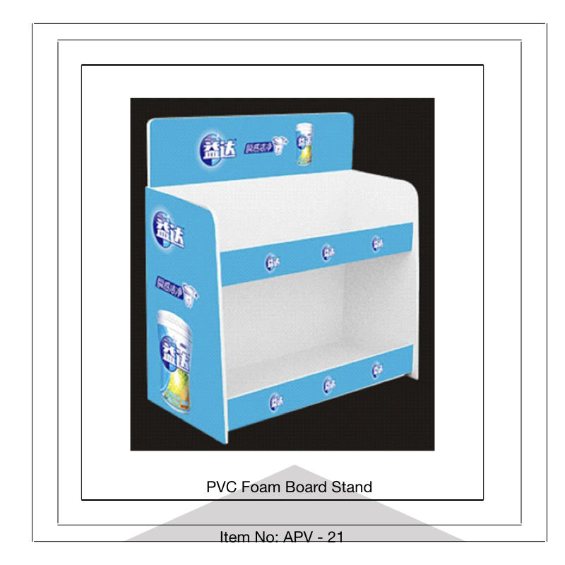 Pvc Foam Display Stand With Grids Akon